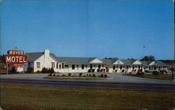 Boyd's Motel Elkton Maryland