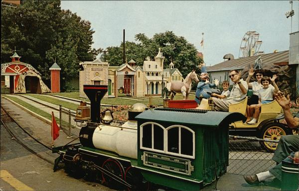 1865 Railroad and Antique Car Ride - Palisades Amusement Park New Jersey