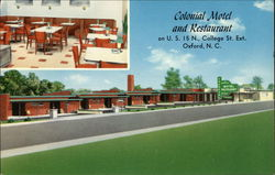 Colonial Motel and Restaurant Postcard