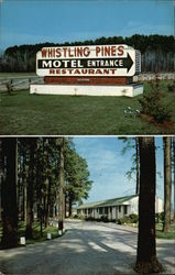 Partial View of Whistling Pines Motel Postcard