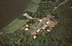 Aerial View of Saunders Bay Motel & Cottages