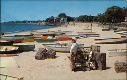 Fishing Boats at Fishermen's Beach Postcard