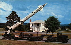 Army's Zeus Missile Against an Old Southern Background