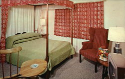 Bedroom at the Yankee Drummer Inn and Motor House