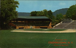 "Greetings from Cooperstown, N. Y. ""Home of Baseball"" Postcard"