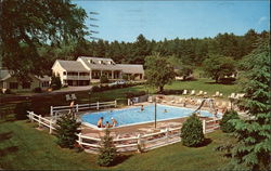 Pool Area and Ledgewood Inn