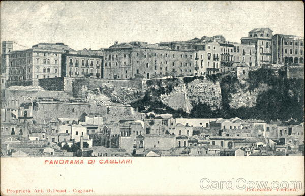 View of Town Cagliari Italy