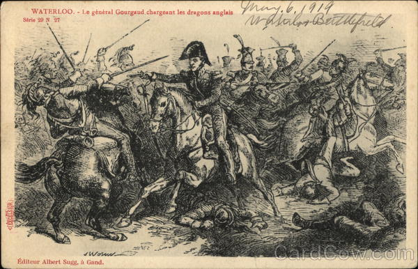 Drawing of Waterloo Scene Belgium Benelux Countries
