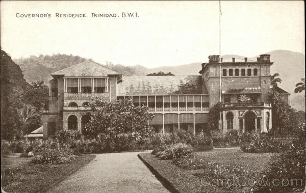 Governor's Residence Trinidad British West Indies Caribbean Islands