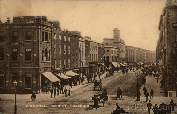 Looking Along O'Connell Street Limerick Ireland
