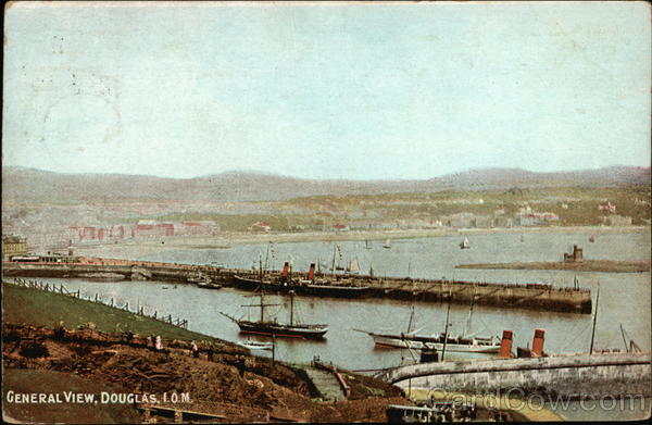 General View of Town Douglas Isle of Man