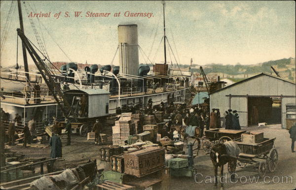 Arrival of S. W. Steamer at Guernsey United Kingdom