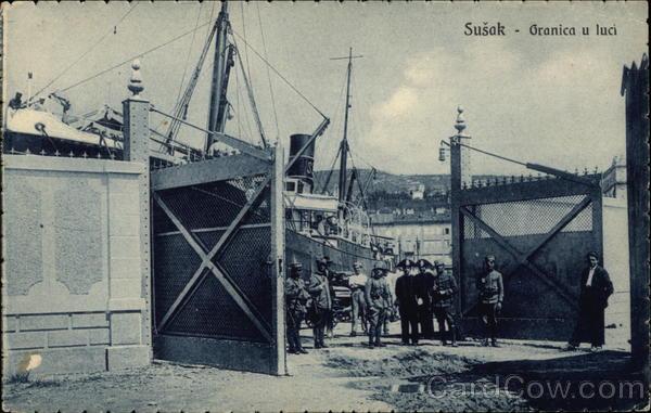 Border Crossing Susak Croatia Eastern Europe