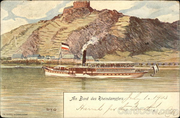 Rhine River Steamer Riverboats