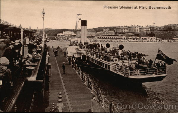 Pleasure Steamer at Pier Bournemouth England Dorset