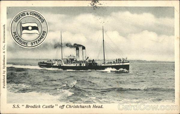 S. S. Brodick Castle off Christchurch Head Great Britain