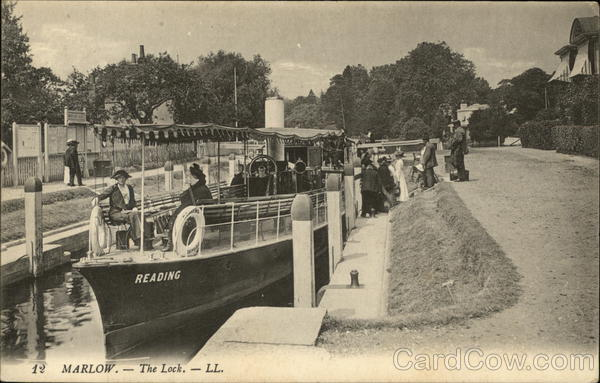 Boat on the Lock Marlow England