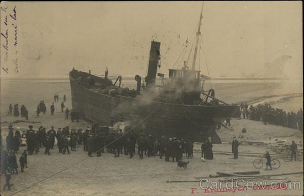 Beached Ship, Ostenda Belgium Benelux Countries