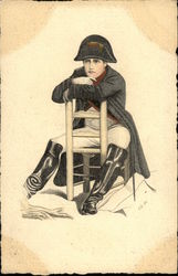 Napoleon Bonaparte sitting on a chair