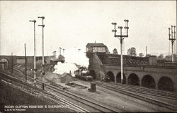 Rugby Clifton Road Box & Overbridges Postcard