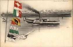 """Steamer """"Hallwyl"""", Lake Neuchatel"""