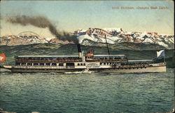 """Steamer """"Stadt Zurich"""", Lake Zurich"""