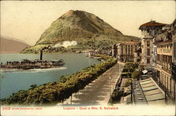 Lugano - Quai e Mte. S. Salvatore
