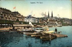 Luzern. Am Quai