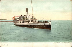 "Steamer ""La France"" on Lake Geneva"