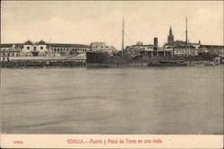 Puerto y Plaza de Toros en una Riada