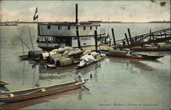 Fishing Canoes Postcard