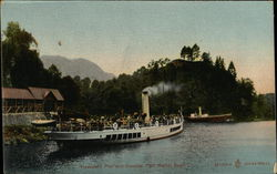 "Trossachs Pier and Steamer ""Sir Walter Scott"""