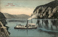 View of Orsova Showing Steamer Boat
