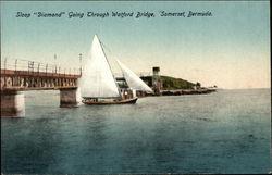 "Sloop ""Diamond"" Going Through Watford Bridge"
