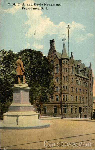 Y.M.C.A. and Doyle Monument Providence Rhode Island