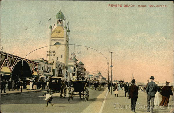 View of Beach Boulevard Revere Beach Massachusetts