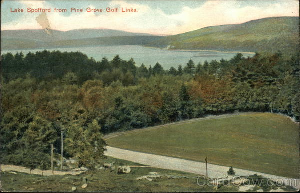 Lake Spofford from Pine Grove Golf Links New Hampshire