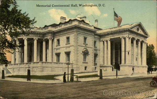 Memorial Continental Hall Washington District of Columbia