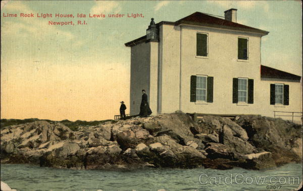 Lime Rock Light House Newport Rhode Island