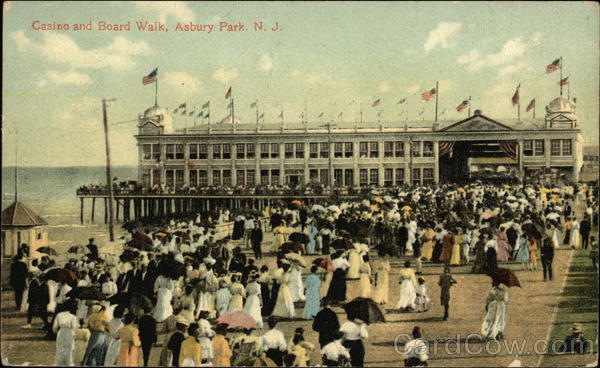Casino and Board Walk Asbury Park New Jersey