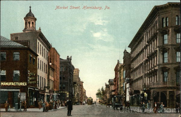 Looking Along Market Street Harrisburg Pennsylvania