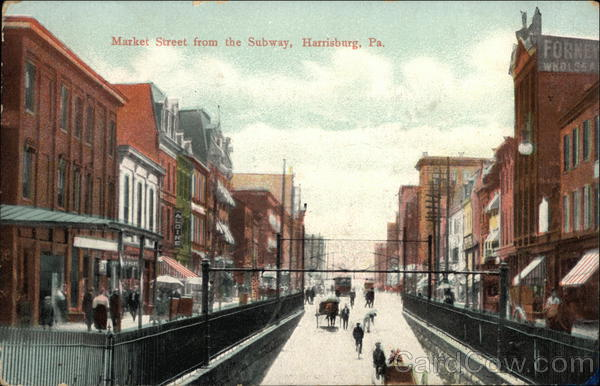 Market Street from the Subway Harrisburg Pennsylvania
