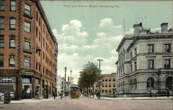 Third and Walnut Street Harrisburg Pennsylvania