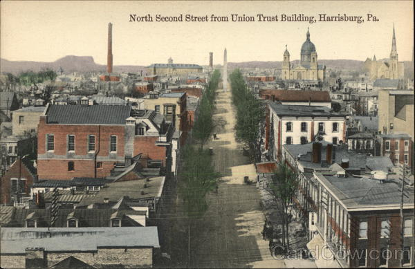 North Second Street from Union Trust Building Harrisburg Pennsylvania