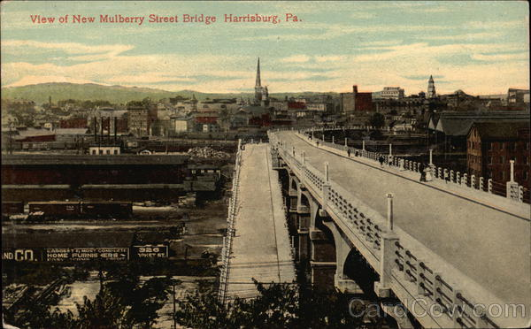 View of New Mulberry Street Bridge Harrisburg Pennsylvania