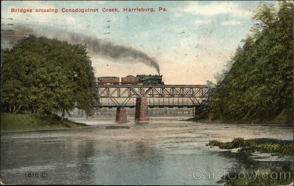 Bridges Crossing at Condoguinet Creek Harrisburg Pennsylvania