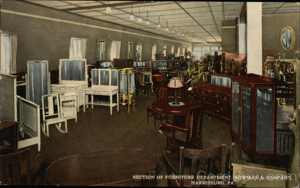 Section of furniture department. Bowman & Company Harrisburg Pennsylvania