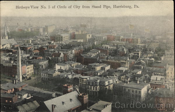 Circle of City from Stand Pipe Harrisburg Pennsylvania