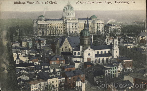 Birdseye View No. 4 of Circle of City from Stand Pipe Harrisburg Pennsylvania