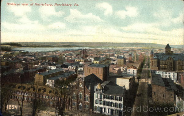 Birdseye View of Harrisburg Pennsylvania